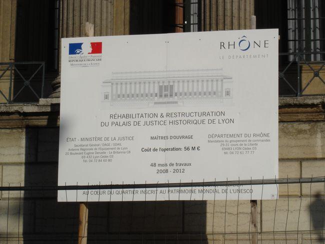 Annonce travaux Palais Justice de Lyon
