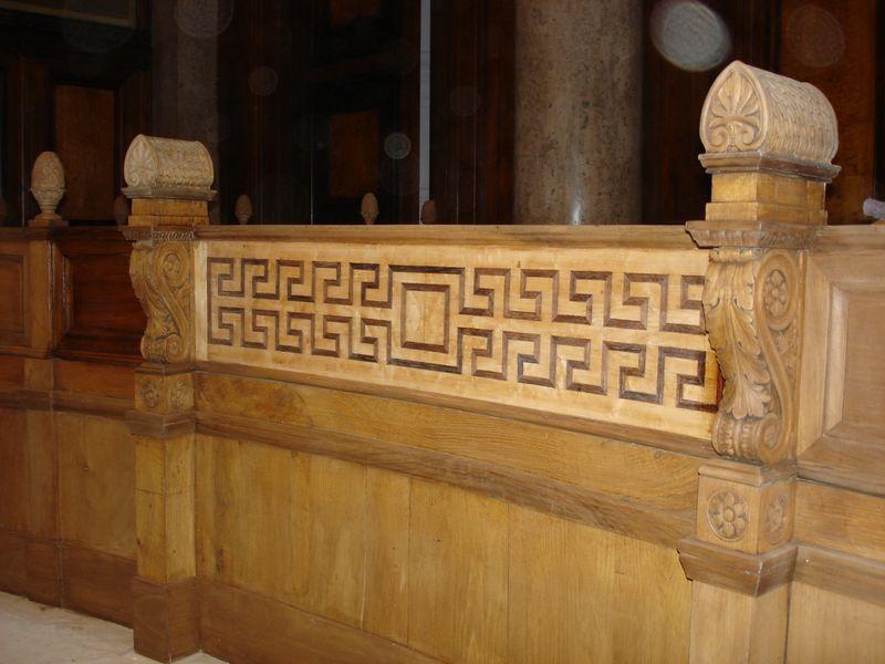 Détail de boiserie du Palais de Justice de Lyon