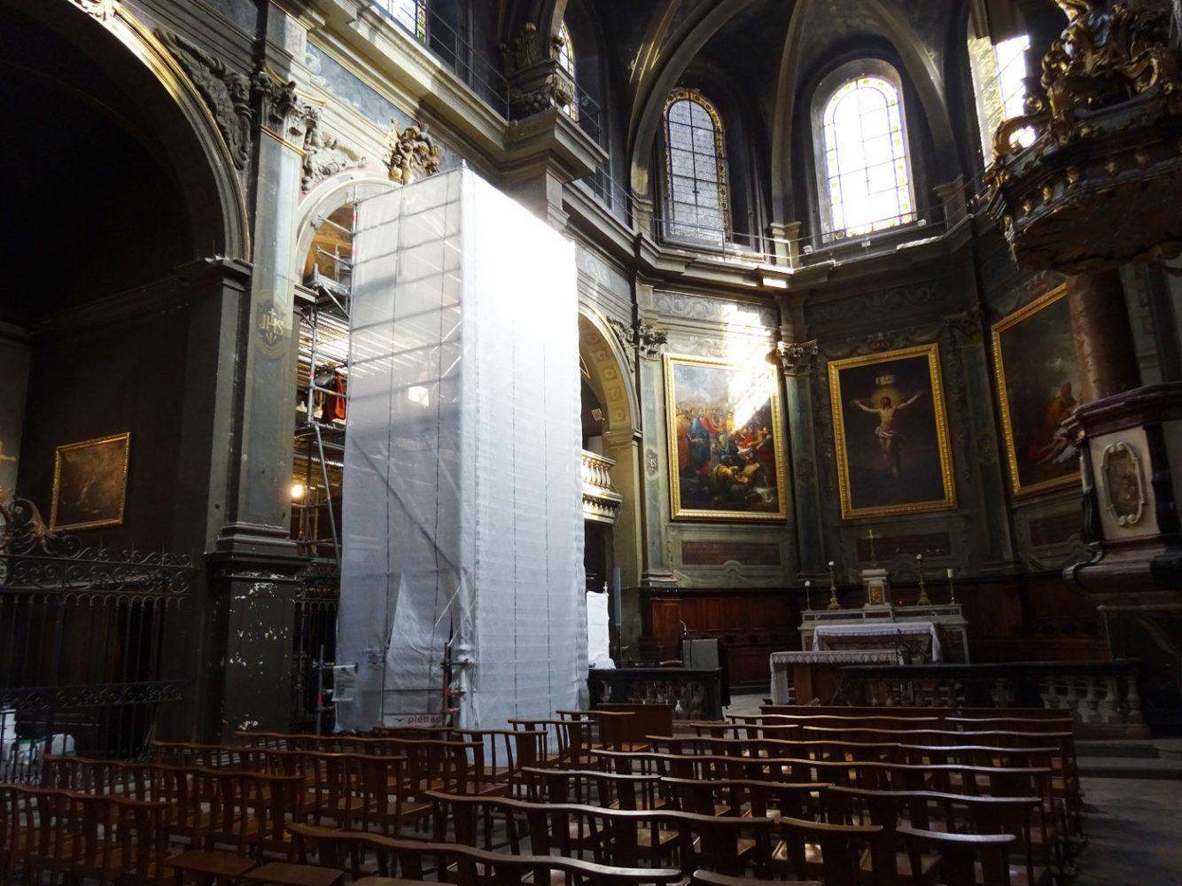 Vue des travaux Hôtel - Dieu Lyon - Chapelle