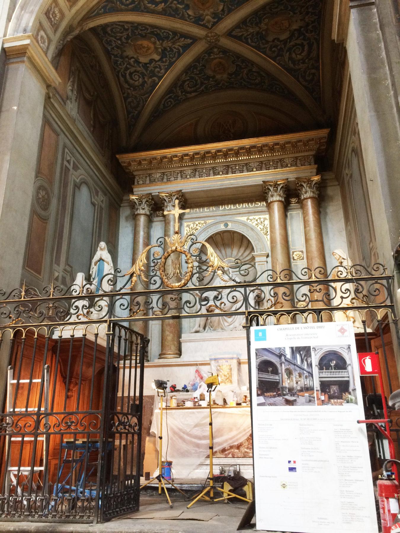 Début des Travaux - Hôtel dieu Lyon - Chapelle