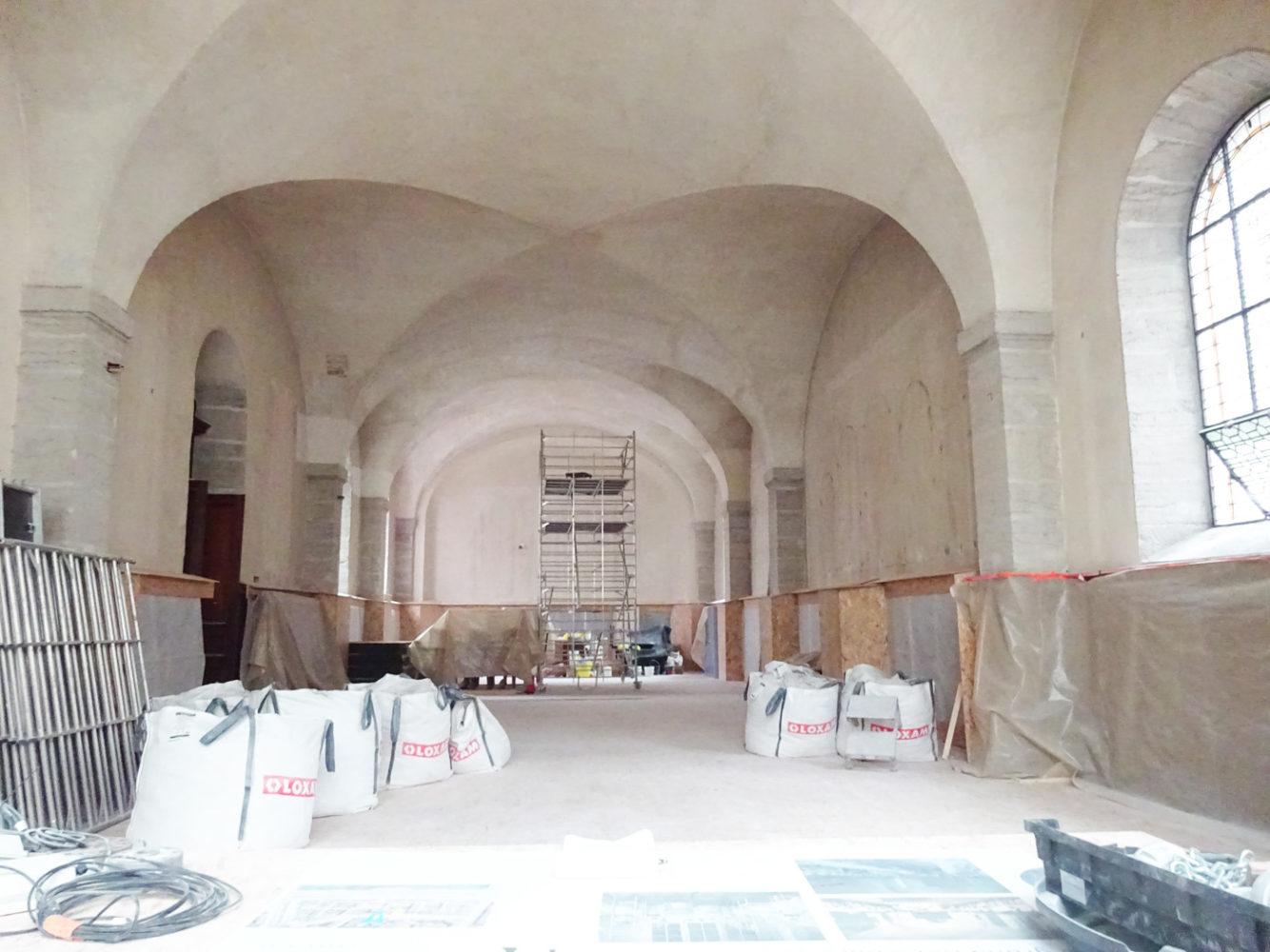Vue des travaux Hôtel - Dieu Lyon