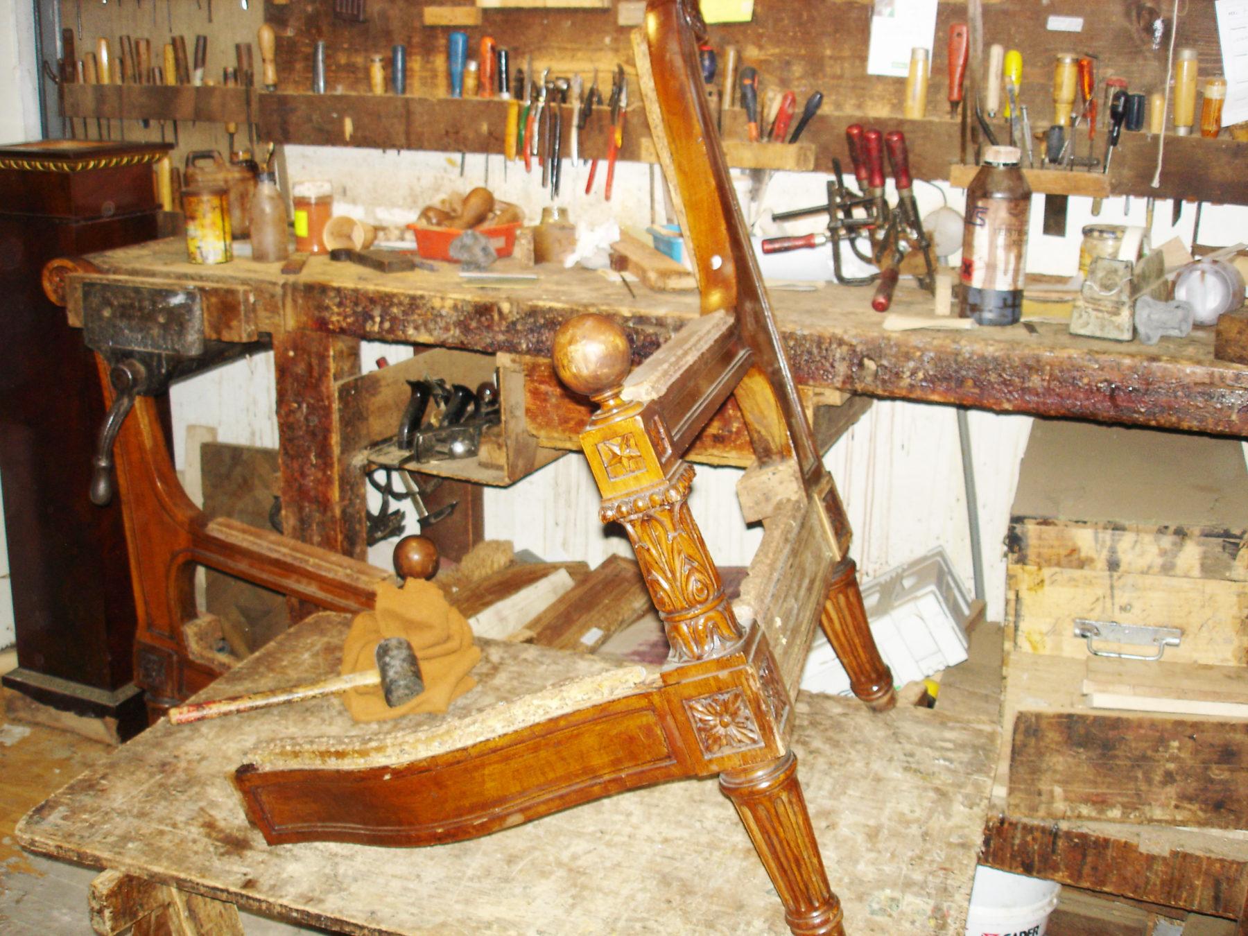 Détail chaise restauration - Luc Vaganay