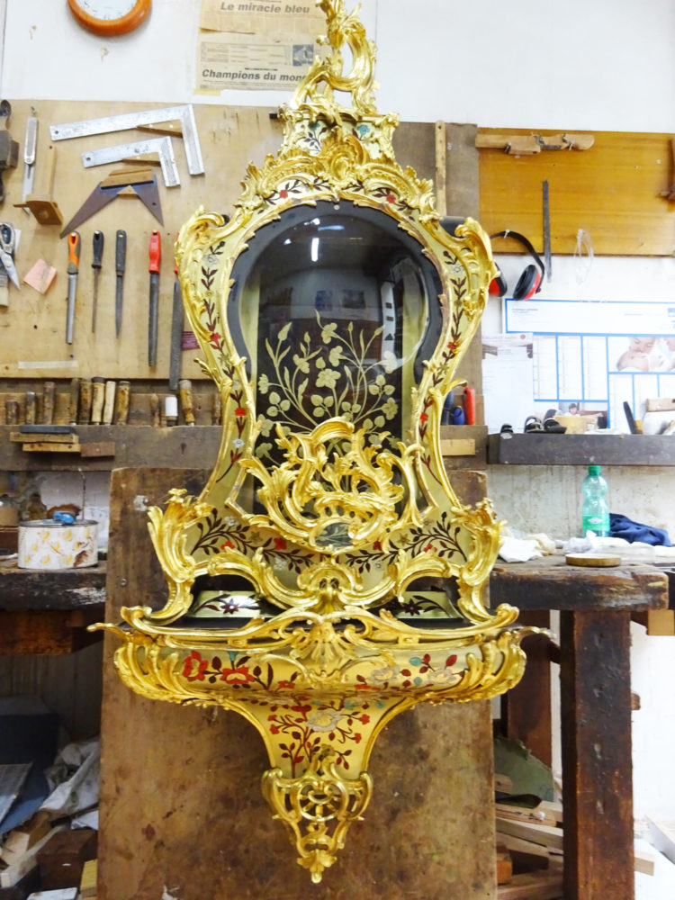 Restauration finalisée Cartel style Louis XV - Atelier Luc Vaganay