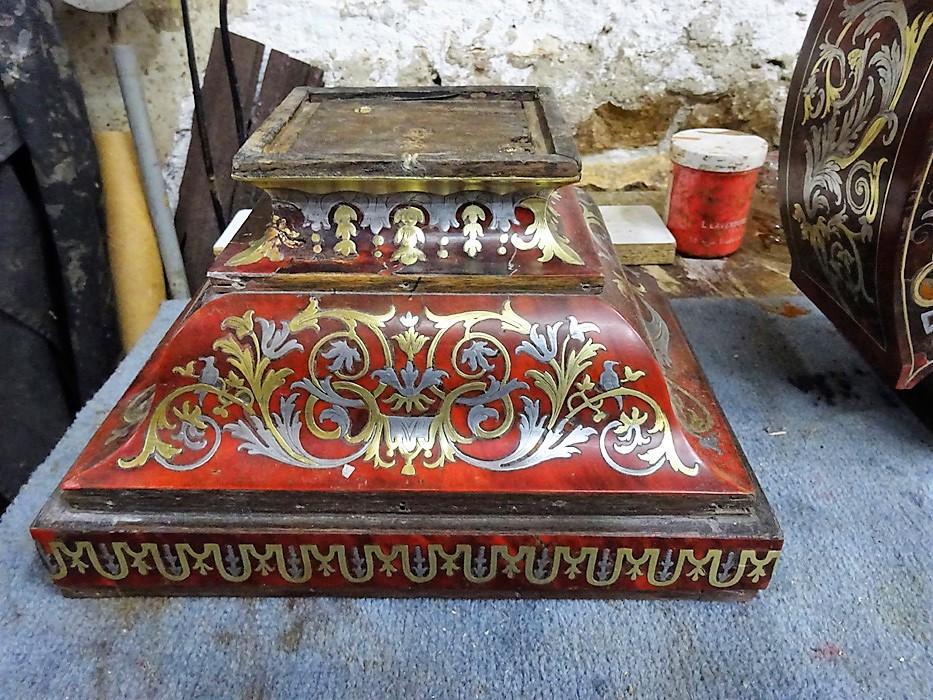 Socle  Pendule Cabinet de la Fontaine - Atelier Luc Vaganay