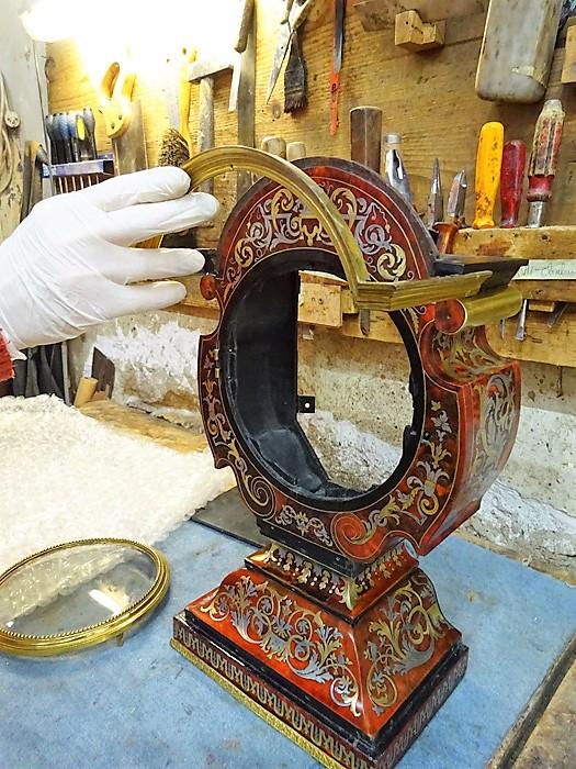 travaux en cours Pendule Cabinet de la Fontaine - Atelier Luc Vaganay
