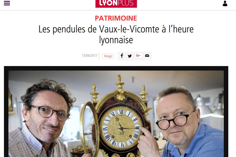 Article de presse sur les pendules de Vaux-le Vicomte